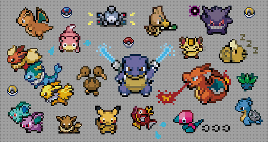 Pixel Art Pokemon Merchandise Announced For Pokemon Center