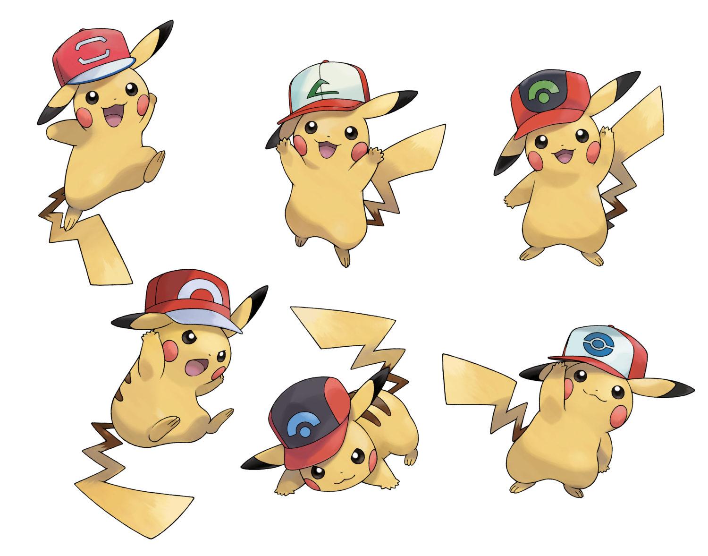Original cap ash pikachu distribution now live on pokemon sun and moon nintendosoup - Pokemon famille pikachu ...