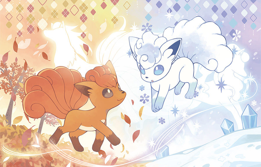 Pokemon Center Original Vulpix/'s Crystal Season cushion Alola Vulpix