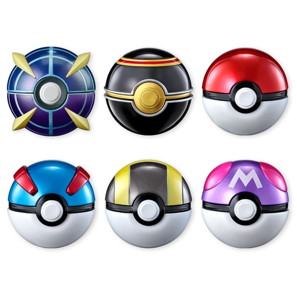 The 6 Poke Ball Designs Are Original Great Ultra Master Luxury And For Very First Time Beast