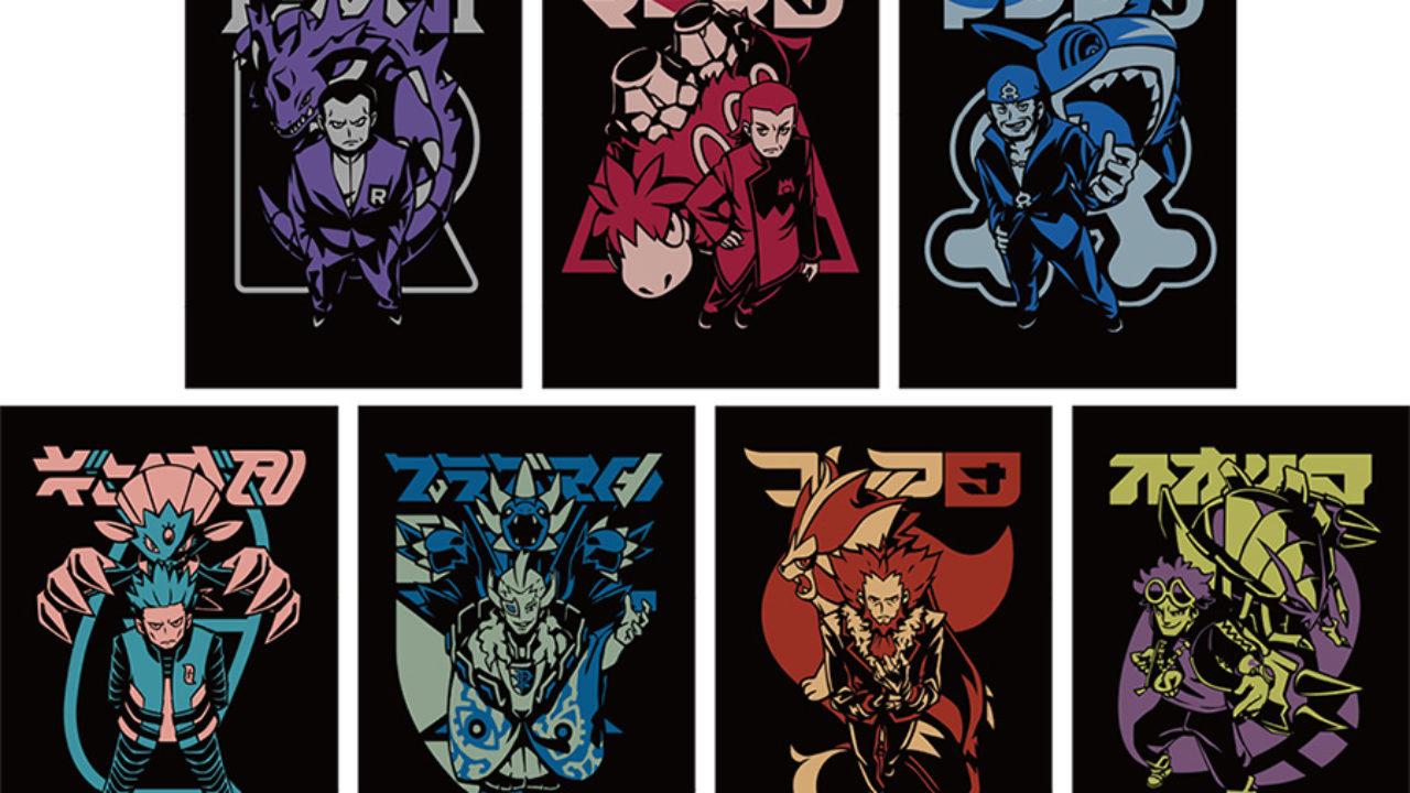 Pokemon Center Original post card seven set SECRET TEAMS