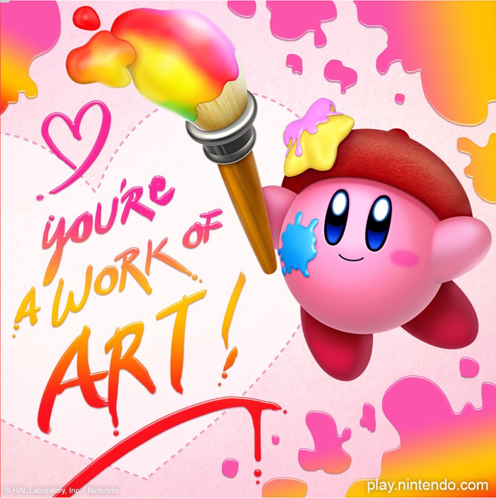 Celebrate Valentines Day With Kirby Cards Nintendosoup