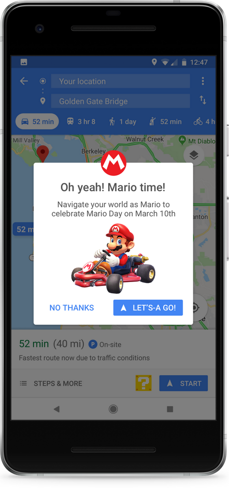 Mario's Now Driving On Google Maps | NintendoSoup on google make map, google volume map, google hotel map, google move map, google drive map, google walk map, mac map, autocad map, google fish map, google love map, navigation map, google story map, google maps map, google sketch map, google run map, google earth map,