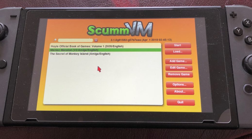 ScummVM Emulator Ported To Nintendo Switch With Help Of
