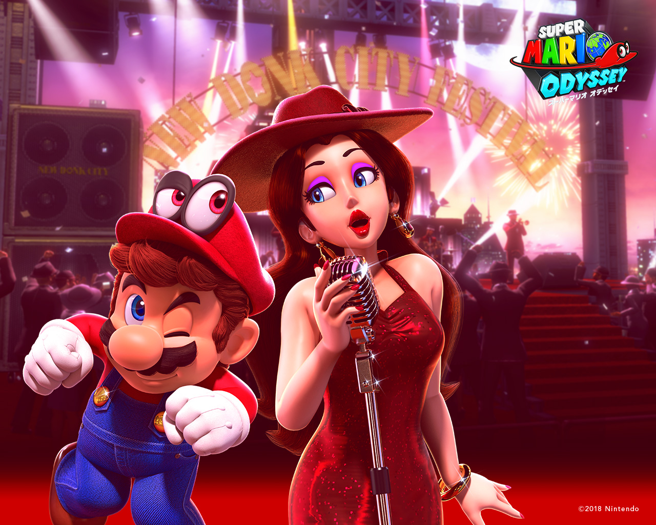 Download The Super Mario Odyssey Happy Birthday Wallpaper For Free