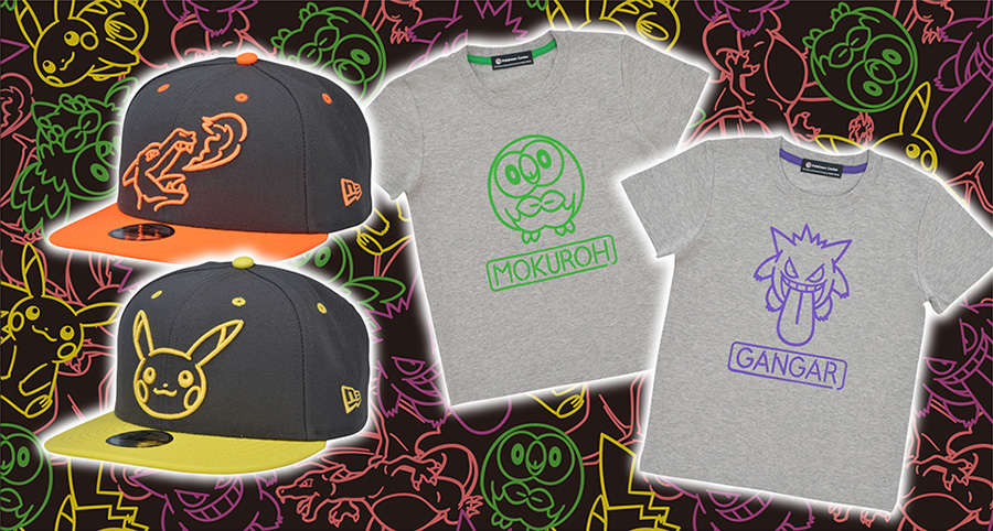 95142f48 Neon Color NEW ERA Caps And T-Shirts Revealed For Pokemon Center ...