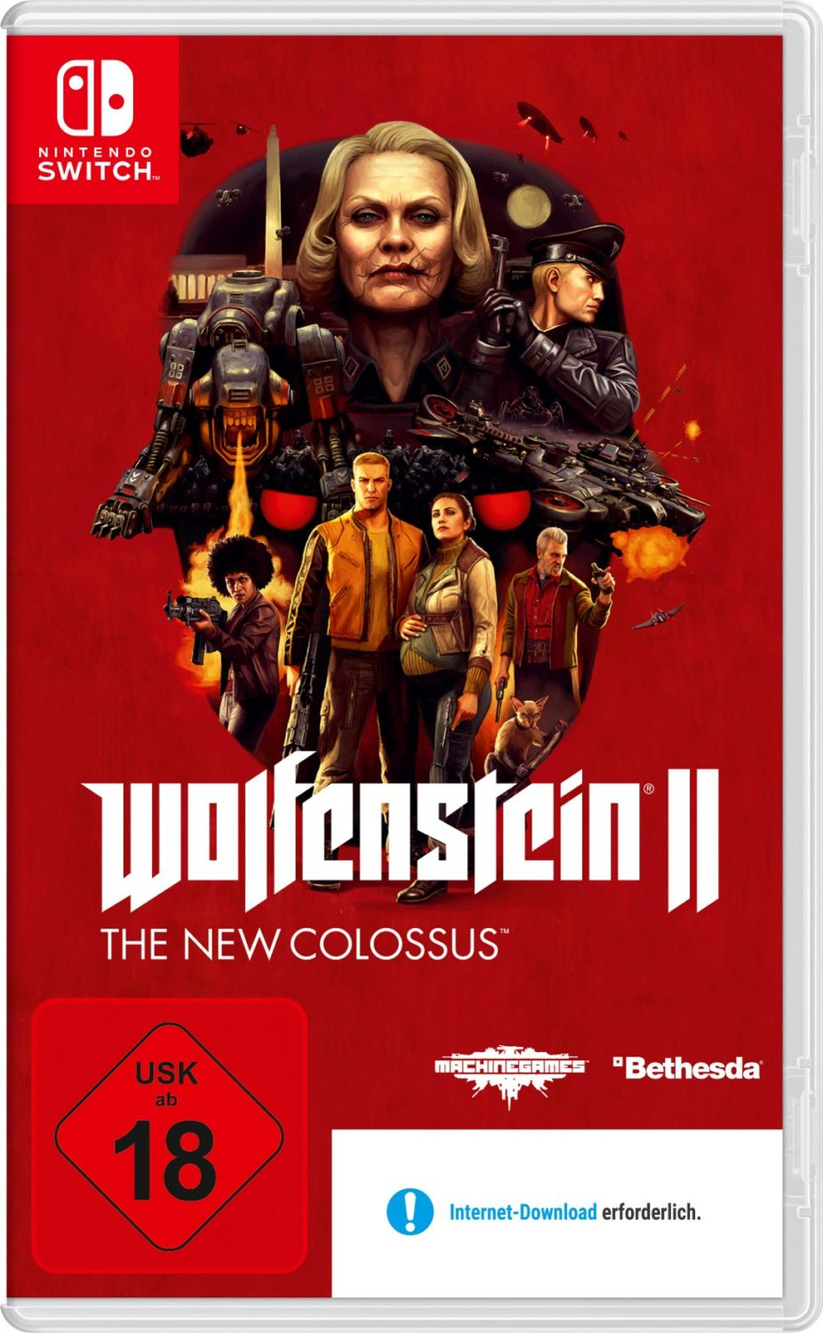 Wolfenstein II Has A Different Download Required Banner In Germany