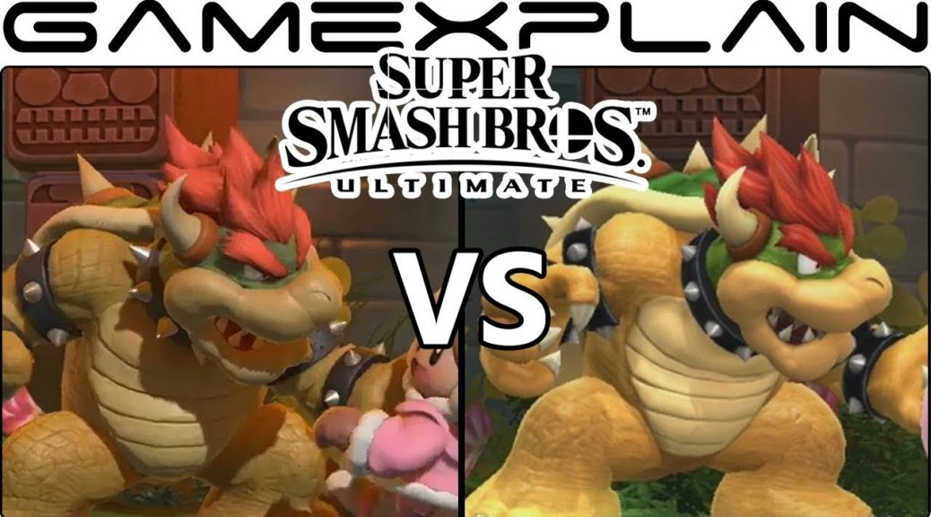 here s the first super smash bros ultimate graphics comparison with