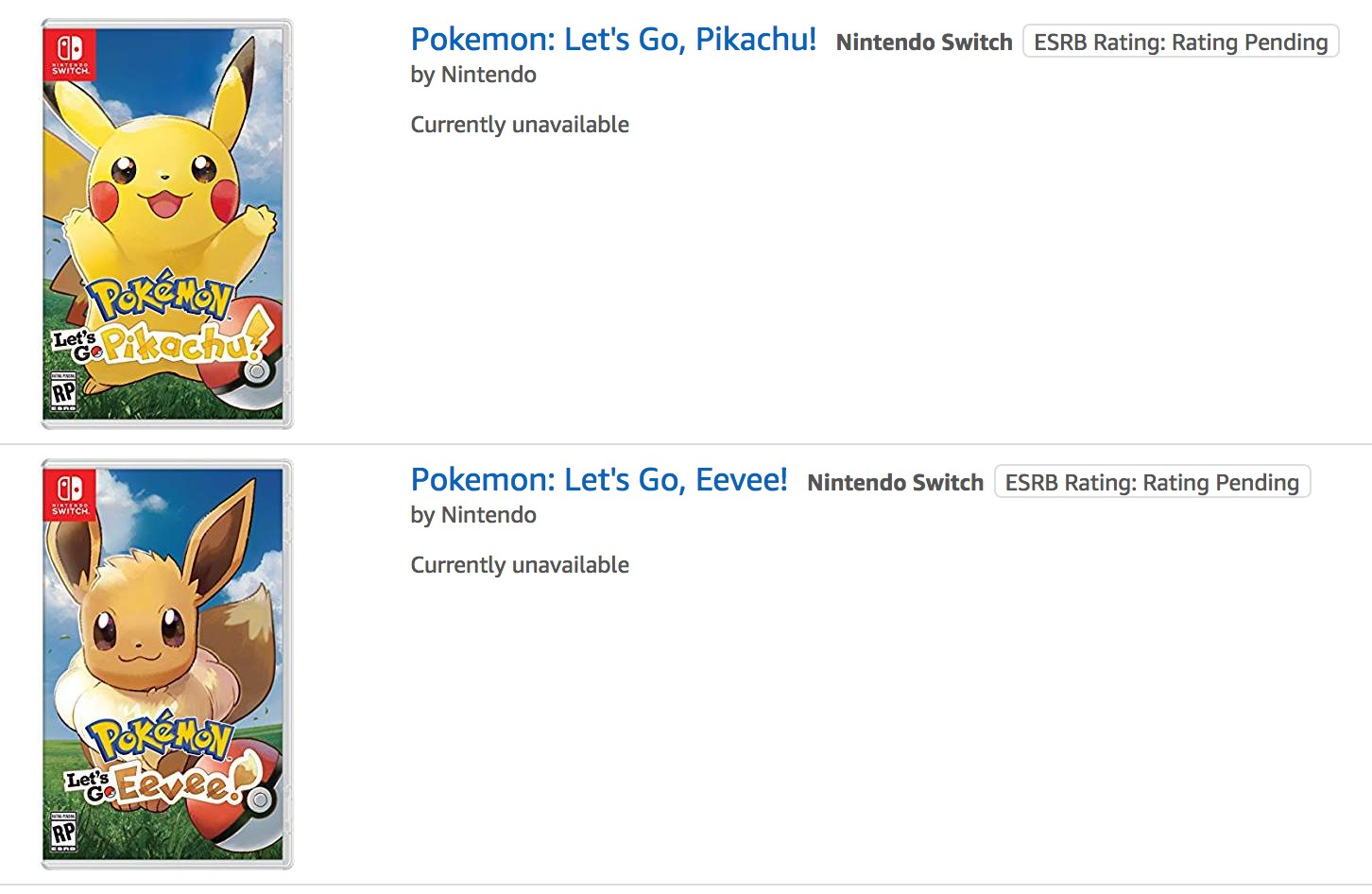 Pokemon Let S Go Pikachu Eevee Have Completely Sold Out On Amazon