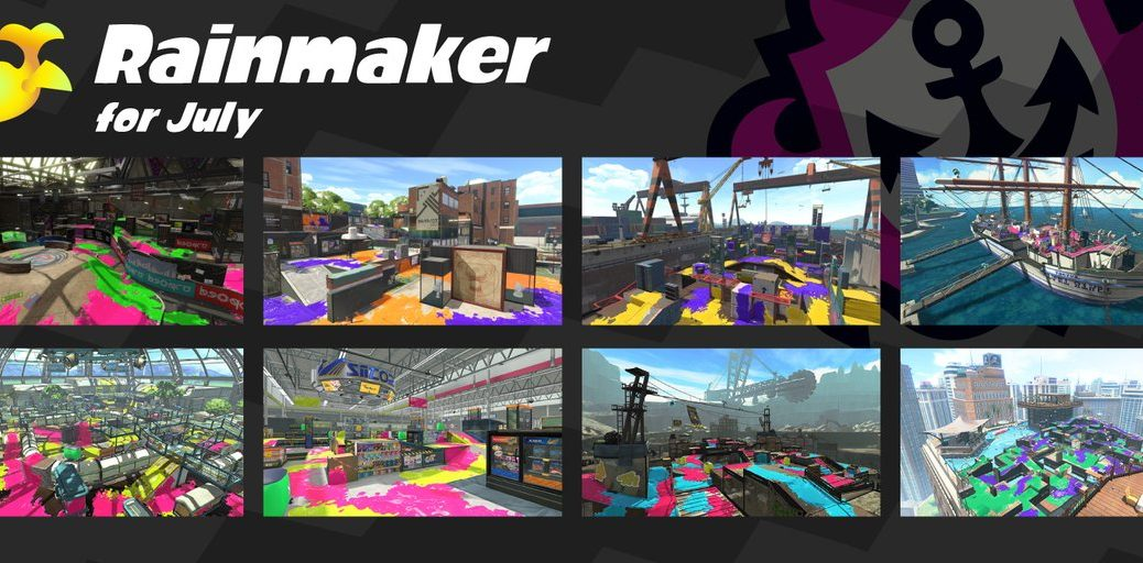 here are the featured stages for splatoon 2 ranked battles in july