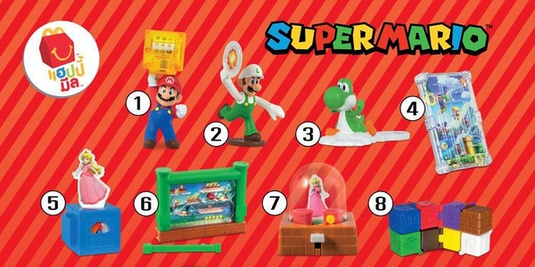 Super Mario Happy Meal Toy Ting Mcdonalds In North America