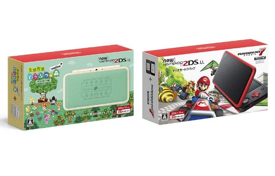 Animal Crossing And Mario Kart 7 New Nintendo 2DS LL Packs