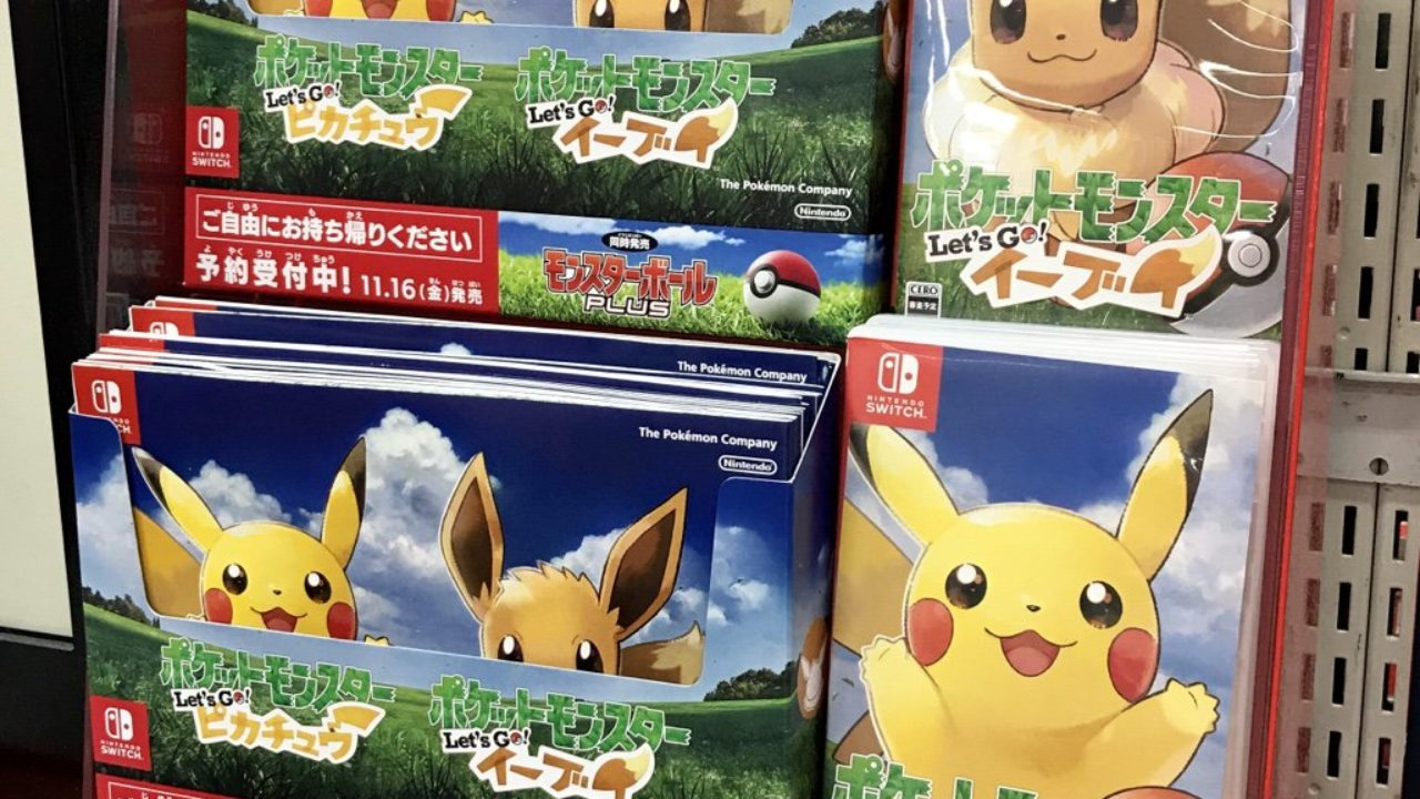 Pokemon Let S Go Pikachu Eevee Pre Orders Are Falling At An