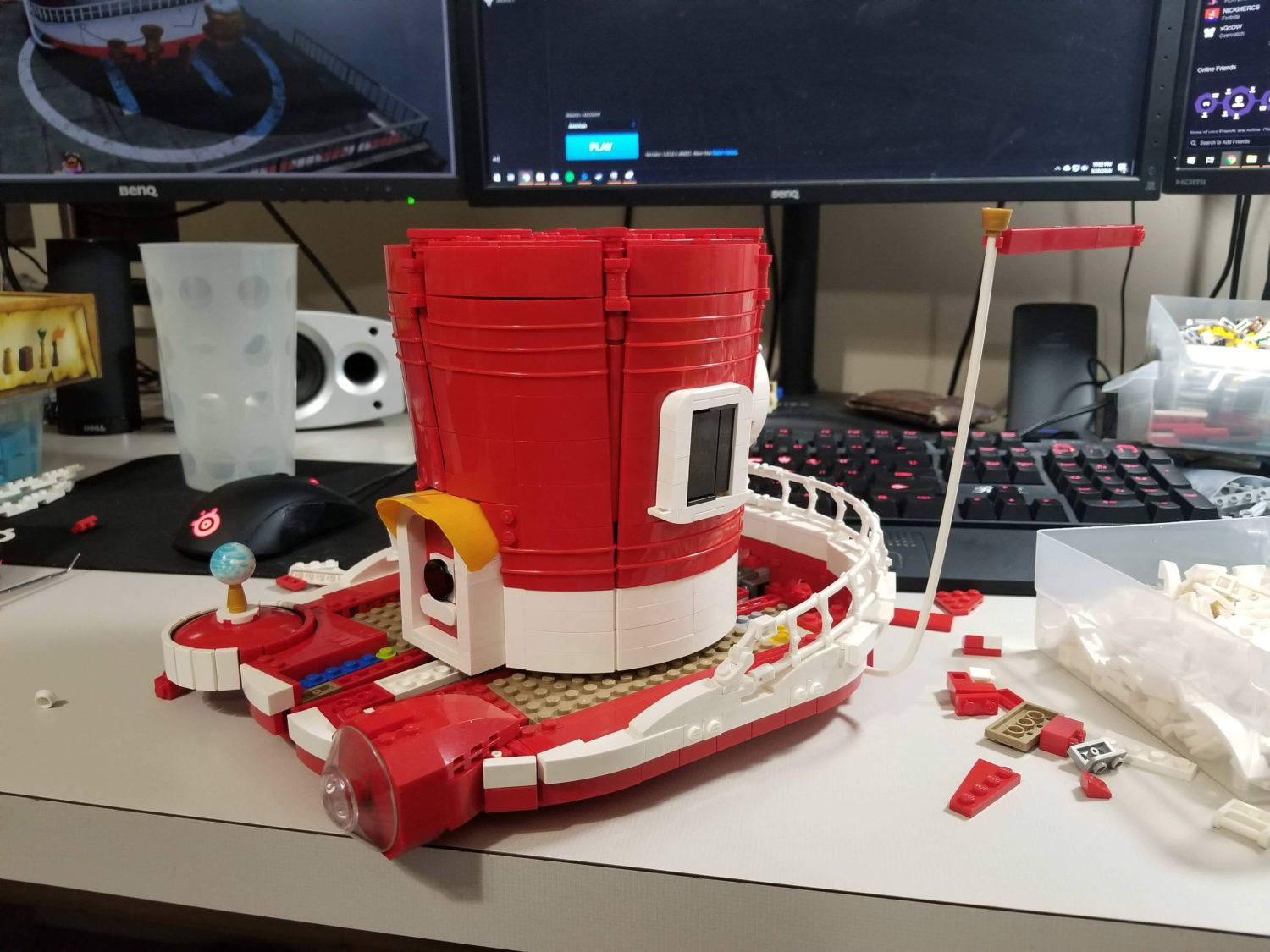 This Super Mario Odyssey Ship Is Built With Lego Nintendosoup