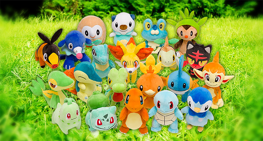 every pokemon starter is getting a plush doll at pokemon center