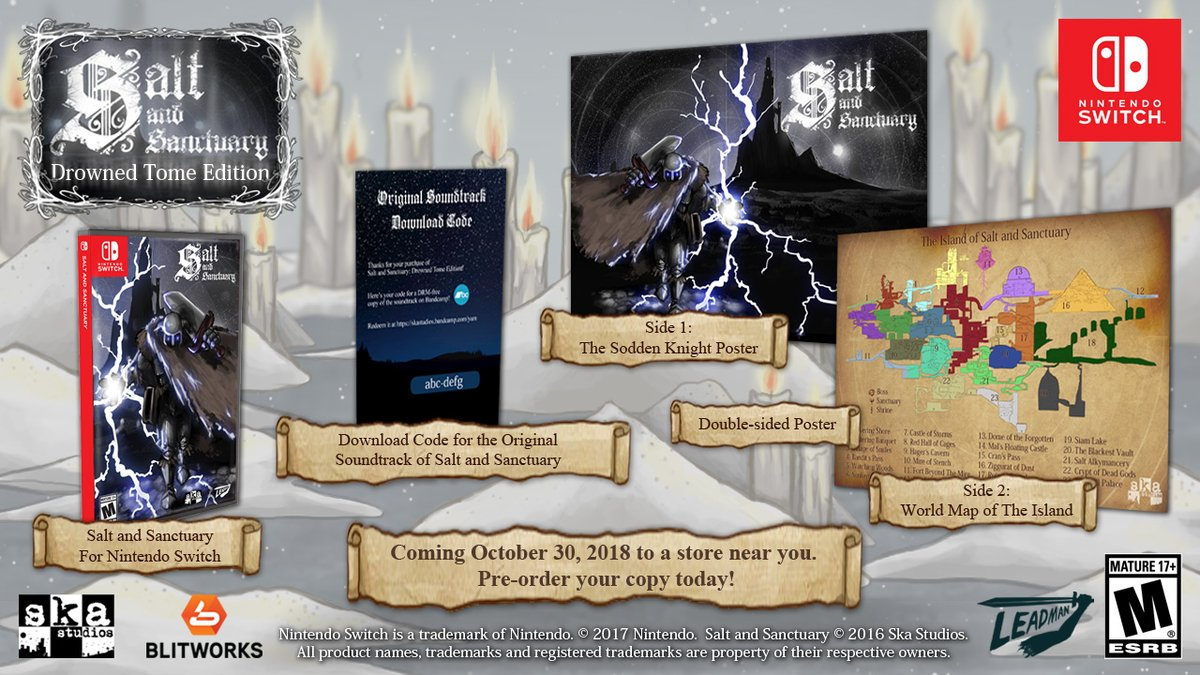 Salt And Sanctuary: Drowned Tome Edition Announced For Nintendo