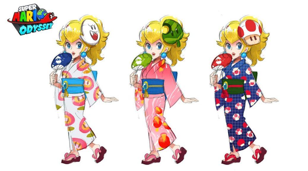here s a look at super mario odyssey yukata peach concept art