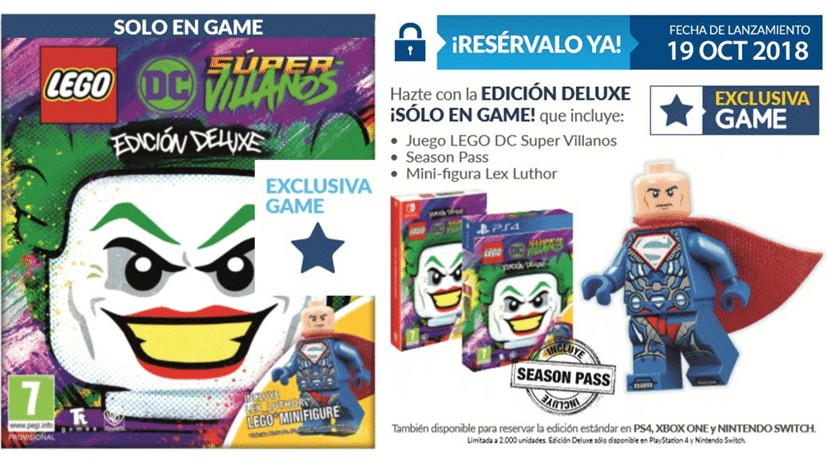 Lego Dc Super Villains Deluxe Edition Announced For Spain Nintendosoup
