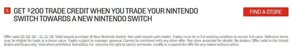 Trade-In Your Switch For Up To $200 Off Another Switch At