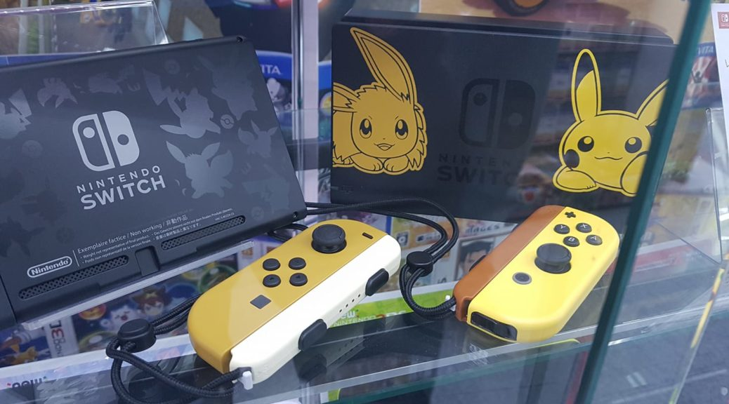 Closer Look At The Nintendo Switch Pikachu Eevee Edition