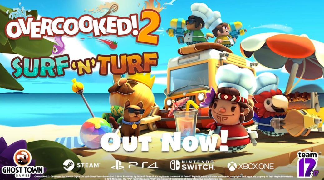 Surf N Turf DLC For Overcooked 2 Is Now Available