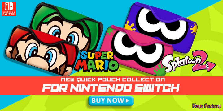 Quick Pouch Collection For Nintendo Switch Now On Sale