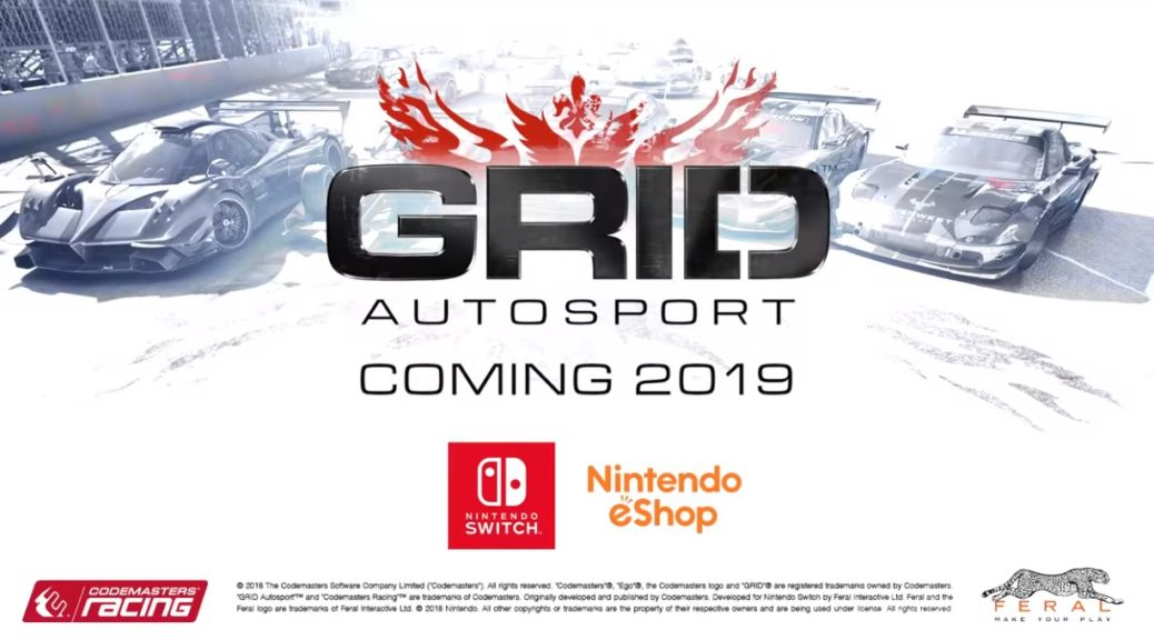 Grid Autosport Races Its Way To Nintendo Switch In 2019 Nintendosoup