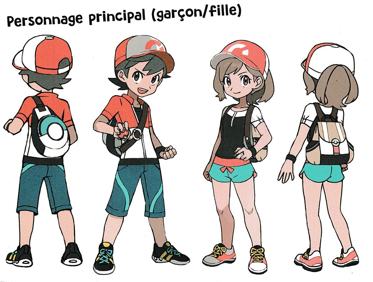 Concept Art Pokemon Trainer Designs