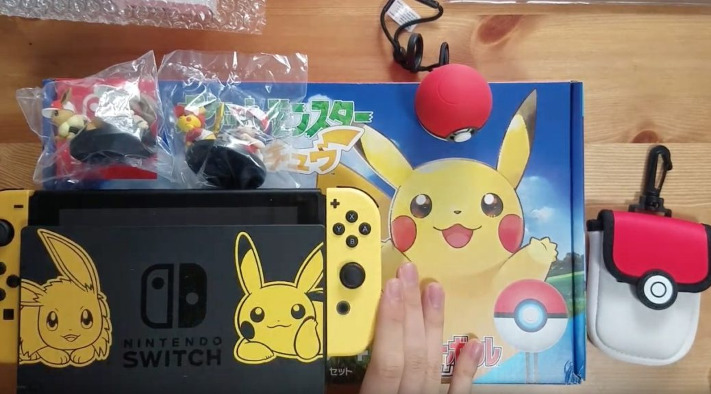 Video Unboxing The Nintendo Switch Pikachu Eevee Edition