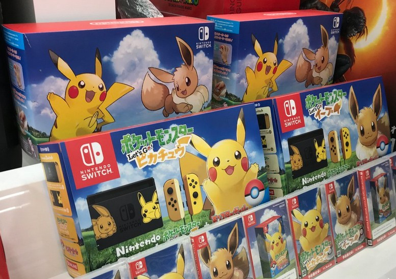 First Look At The Back Of Nintendo Switch Pikachu Eevee Edition