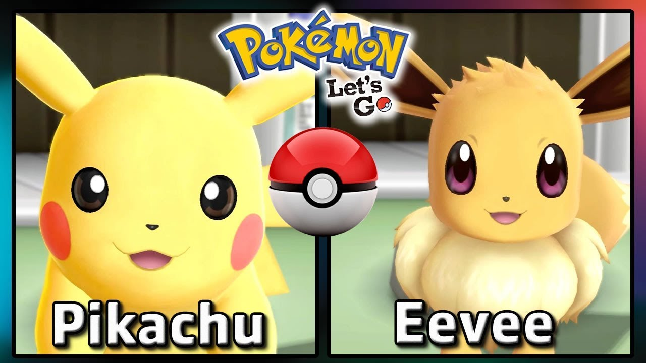 Video Comparing Pokemon Lets GO Pikachu And Eevee