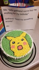Flipboard Reddit User Gifts Boyfriend A Surprised Pikachu Cake For