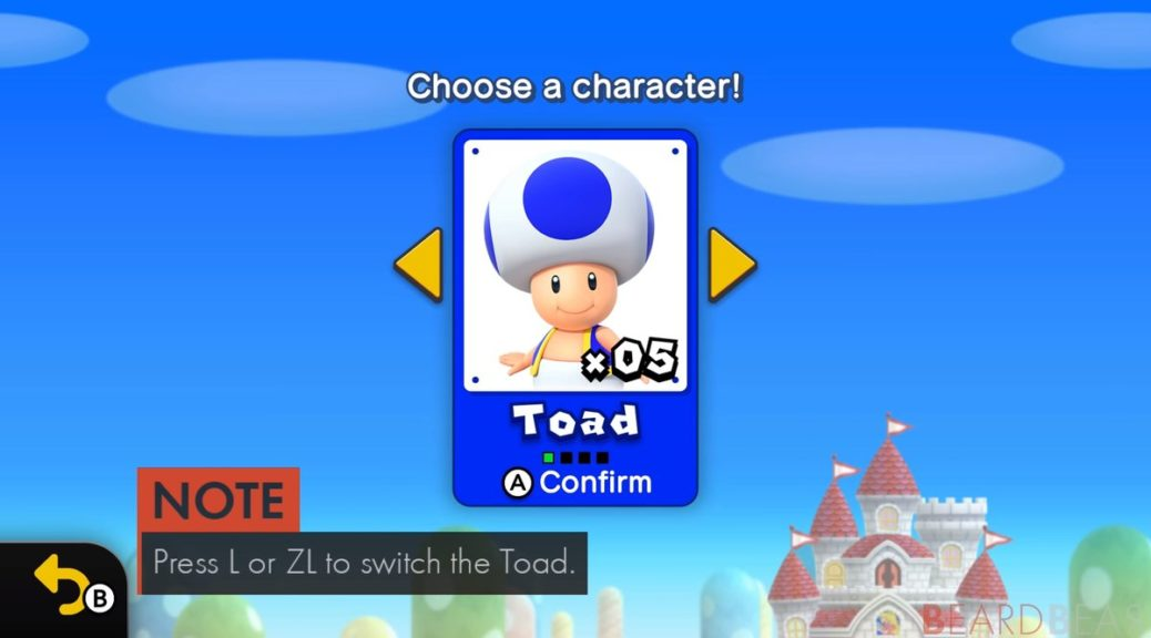 How To Unlock Blue Toad In New Super Mario Bros U Deluxe