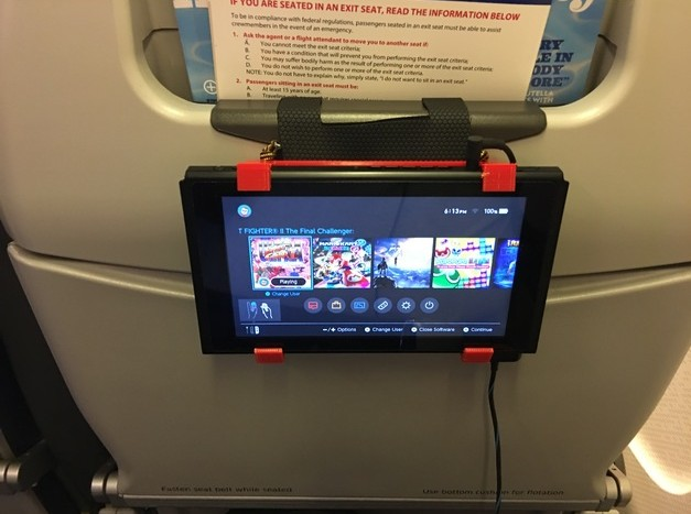 This 3D Printed Holder Lets You Mount Your Switch On Airplane Tray Tables   NintendoSoup