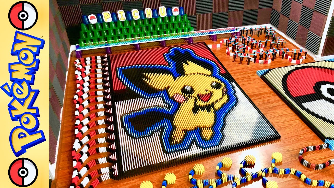 Pichu Gets Displayed In 17,00 Piece Domino Show. But It's Not Just Any Pichu