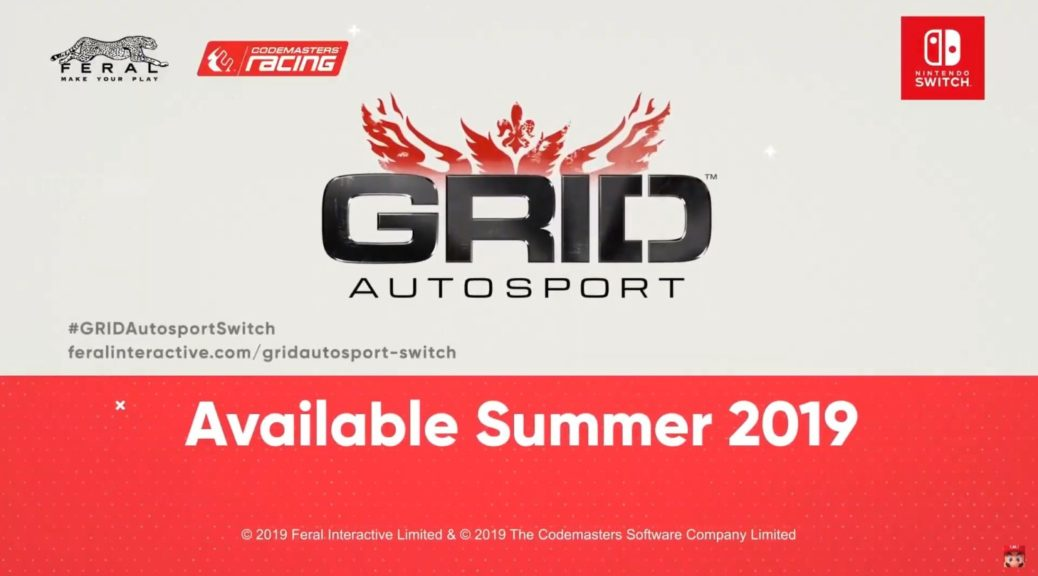 GRID Autosport Comes Zooms Into Nintendo Switch This Summer