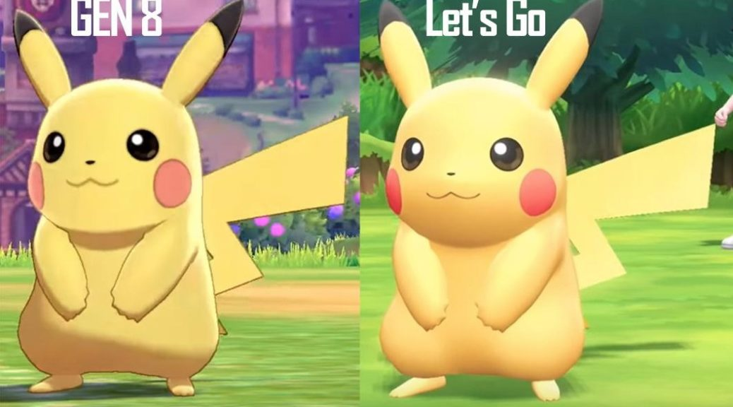 Here S A Comparison Of Pikachu In Pokemon Sword Shield And Pokemon