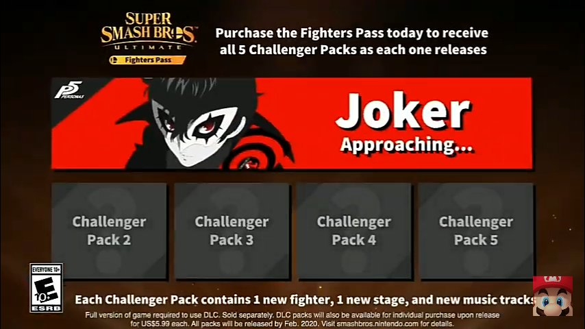Smash Ultimate Fighter's Pass DLC Trailer Now Says Joker Is