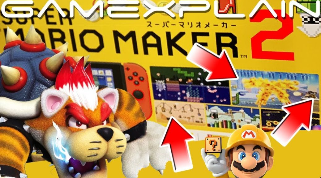 Super Mario Maker 2 Advert Reveals Cat Bowser, New Pipes, New
