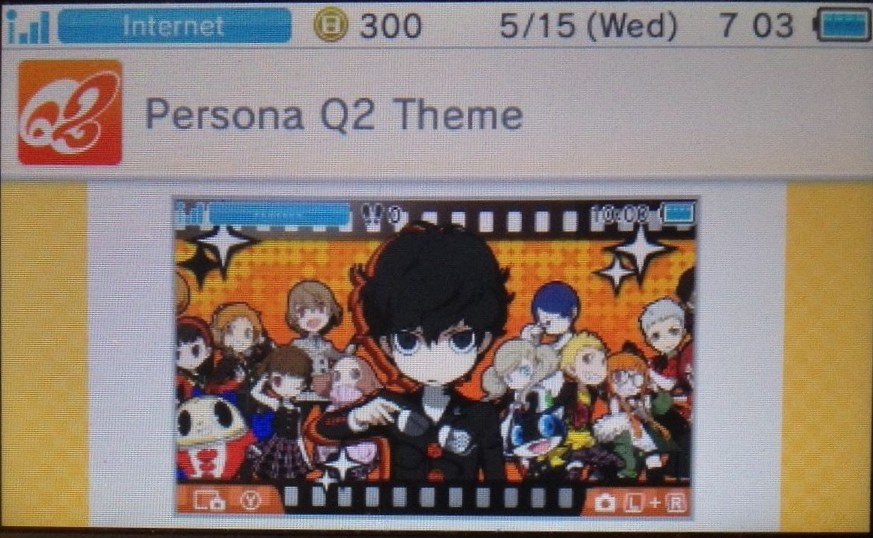 Persona Q2 Free 3DS Home Theme Now Available To Download Via The