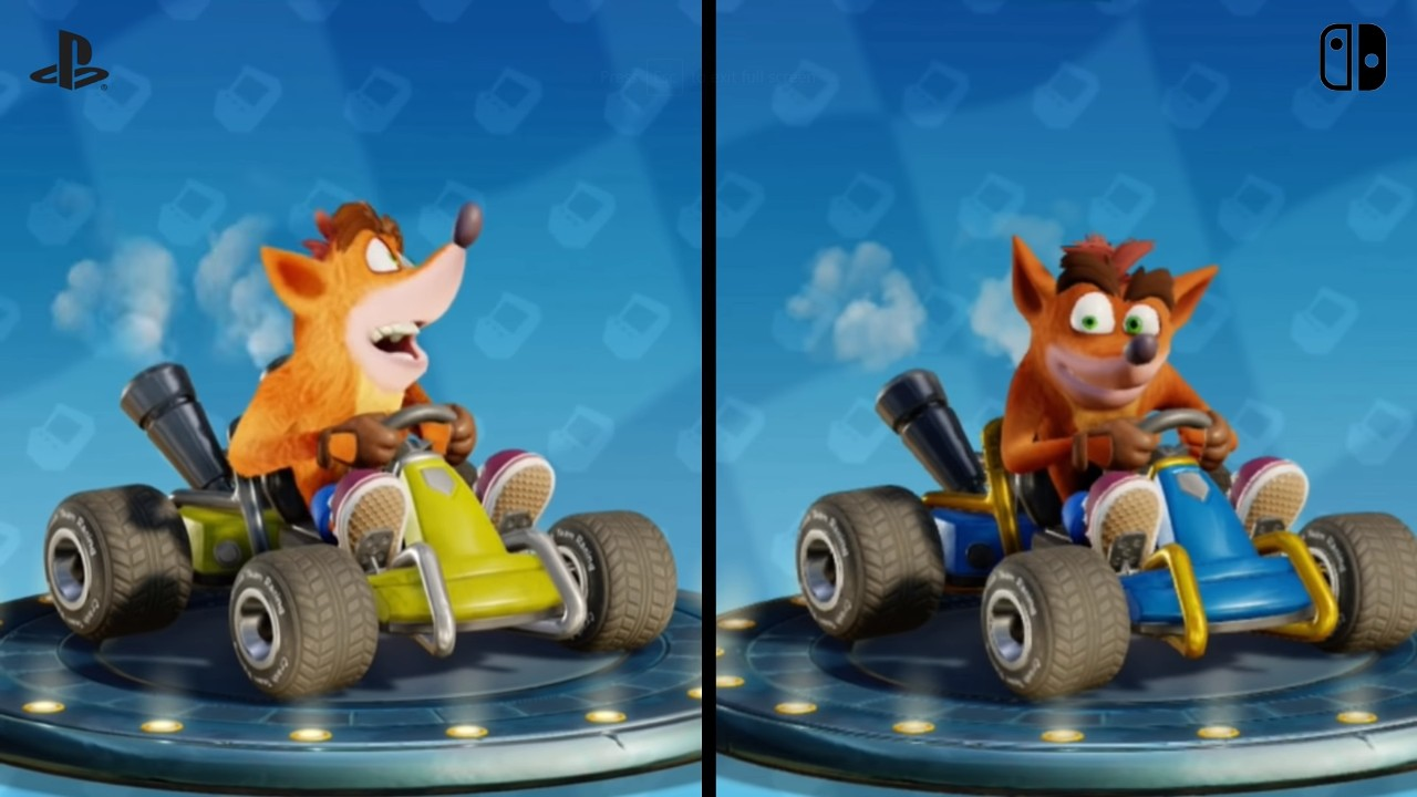 Here's A Switch Versus PS4 Comparison For Crash Team Racing Nitro-Fueled