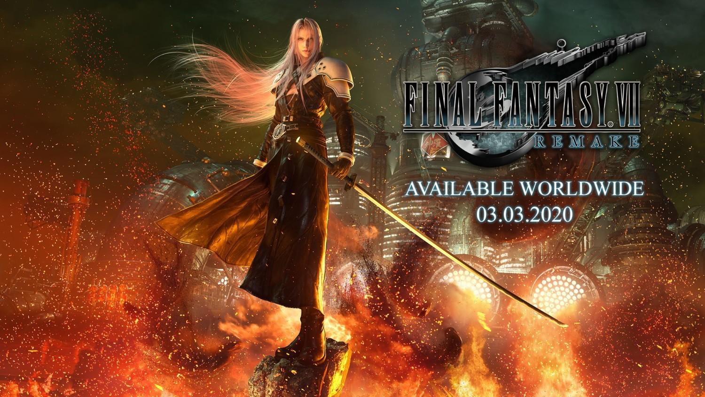 FINAL FANTASY VII REMAKE Pins Pin badge Set of 5 Memorial D Prize Square Enix
