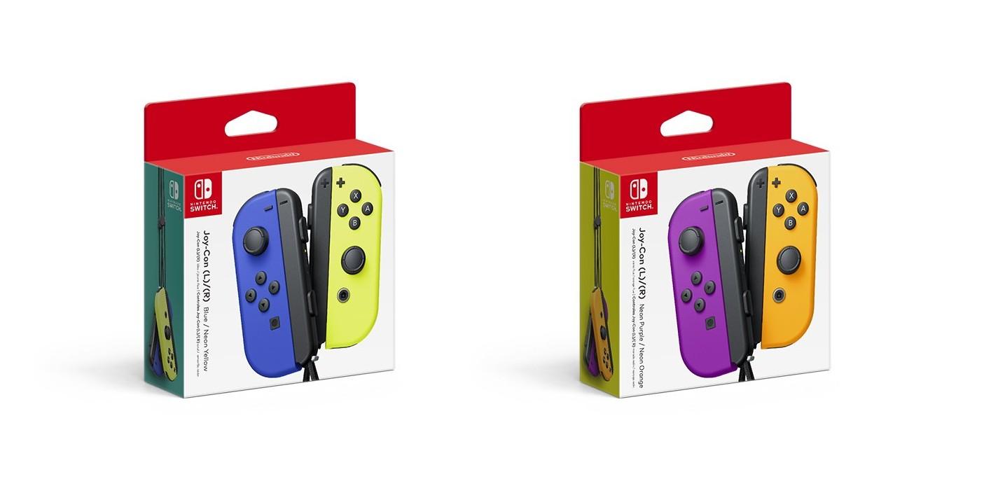 Joy-Con Neon Purple/Neon Orange And Blue/Neon Yellow Up For Pre-Order On Amazon Japan
