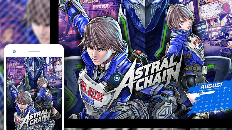 My Nintendo Now Offering Astral Chain August Wallpaper Set