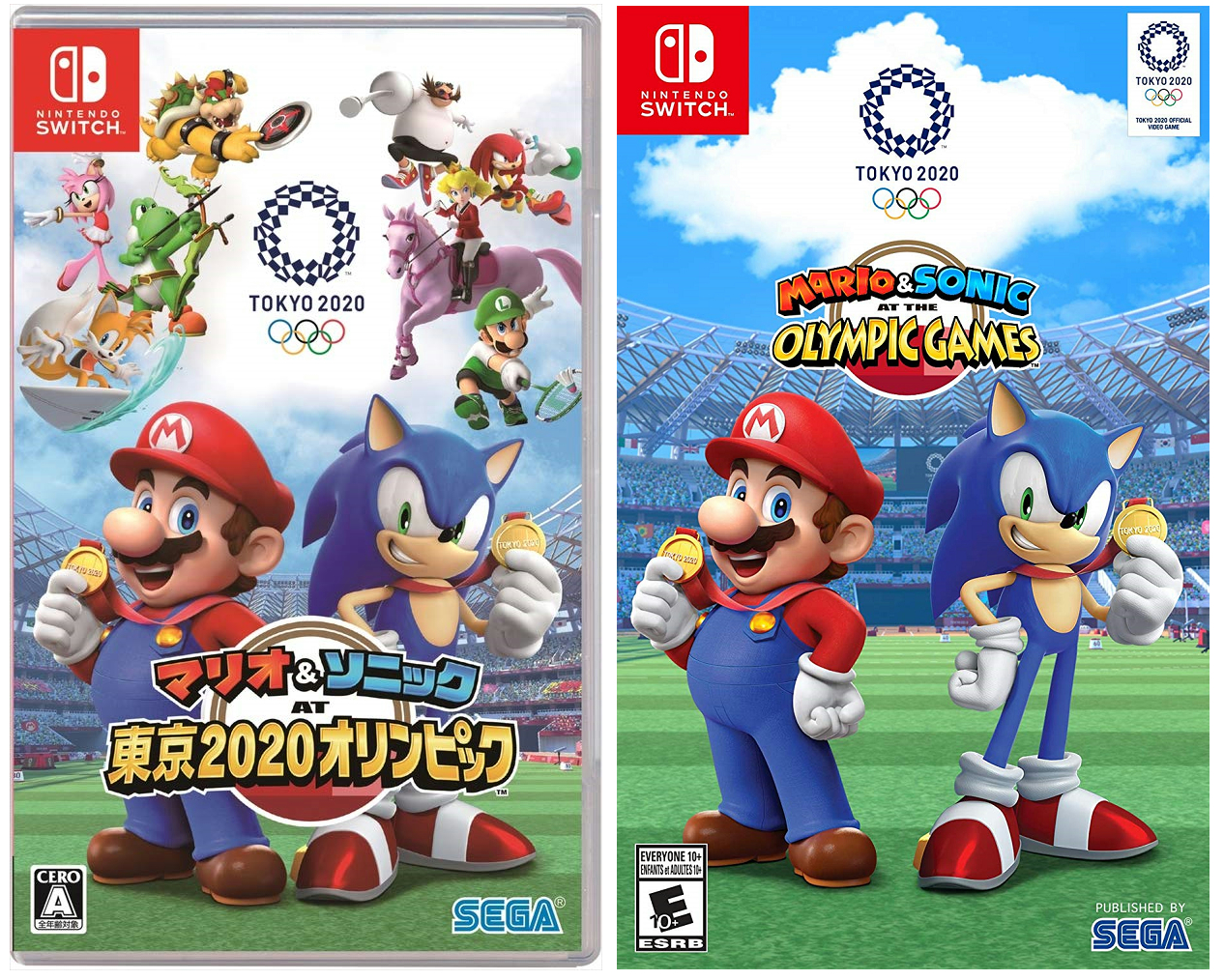 2020 Switch Games.Mario Sonic At The Olympic Games Tokyo 2020 Boxart Looks