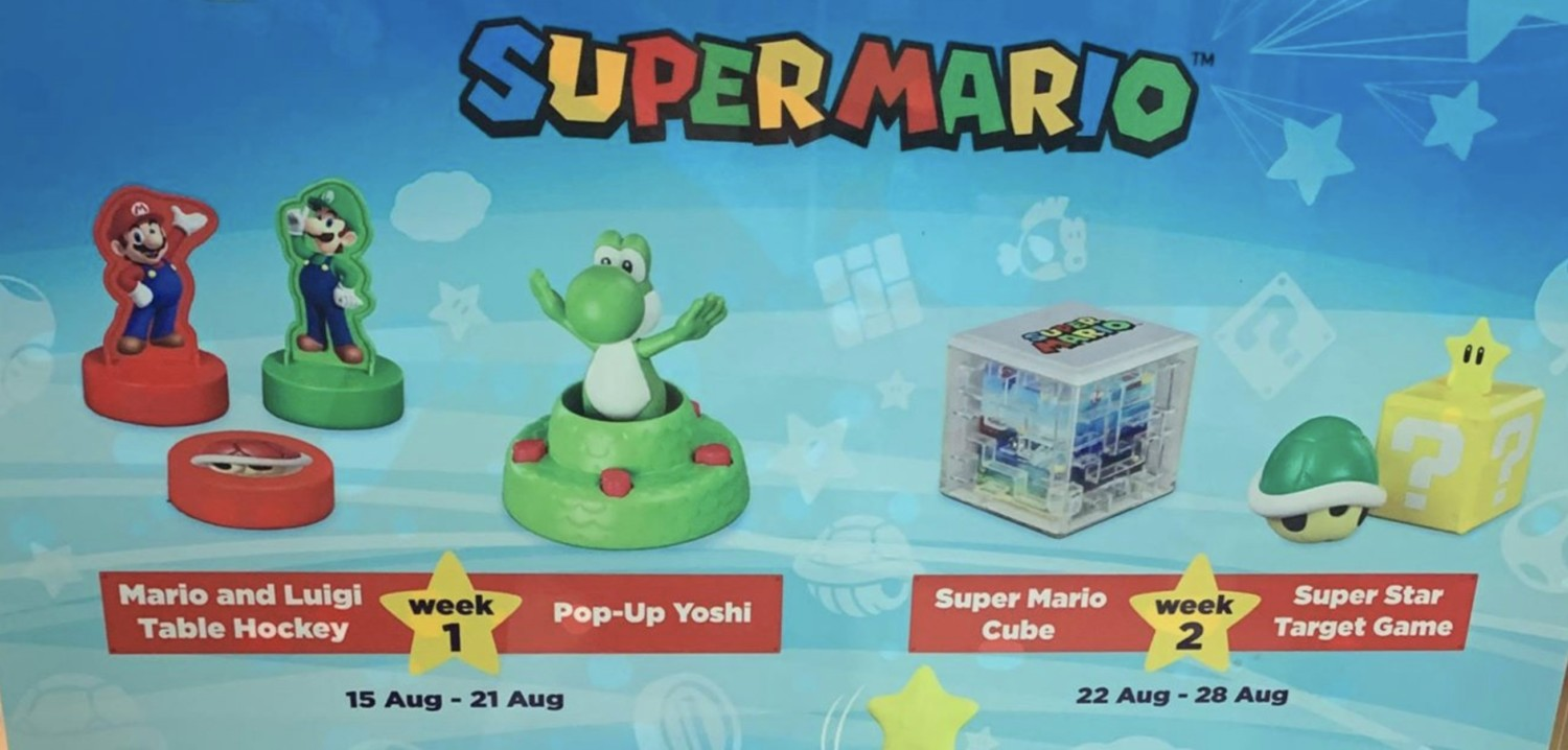 Super Mario 2019 Toys Now Available At McDonald's Singapore