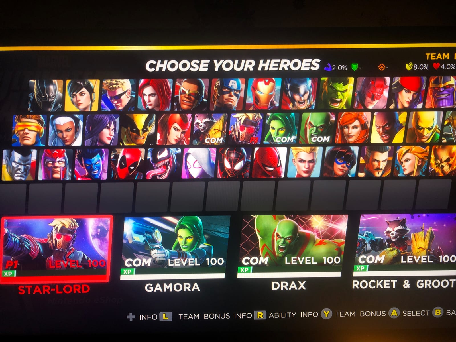 all characters in ultimate alliance 3