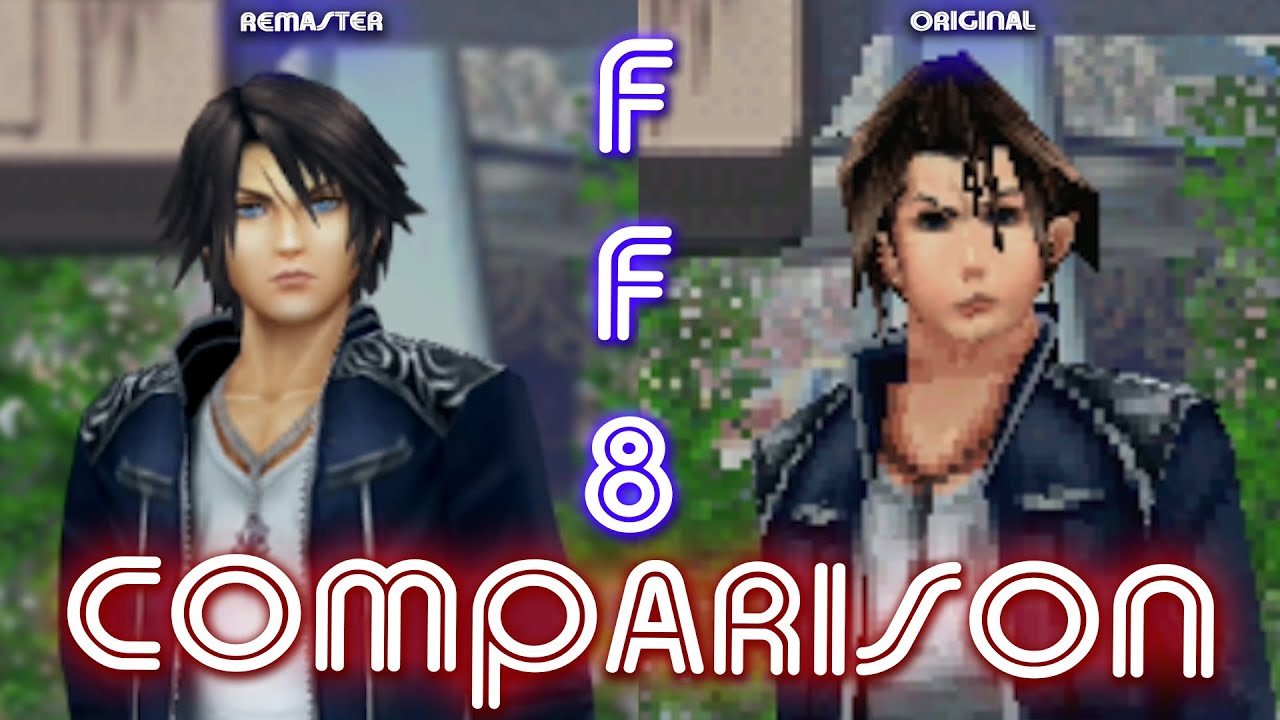 Here's Another Comparison Of Final Fantasy VIII Remastered And Its Original Release