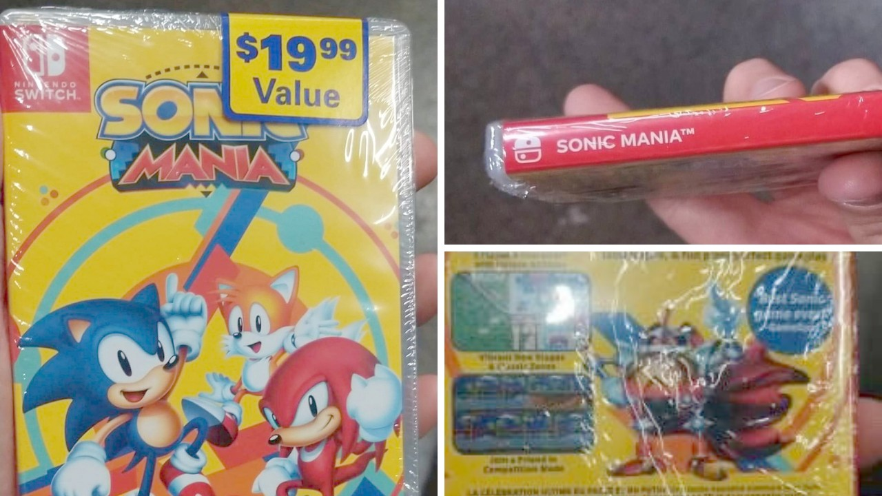 Here's A Closer Look At The Standard Sonic Mania Retail Release