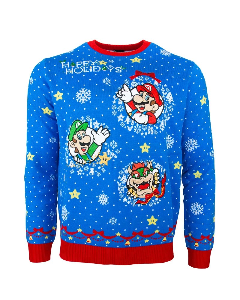 Nintendo-Themed Christmas Ugly Sweaters Up For Pre-Order